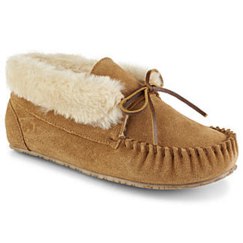 Minnetonka Jackie Jr Women's Slipper (TAN)