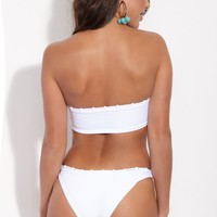 Chain Reaction Hipster Bikini Bottom - White