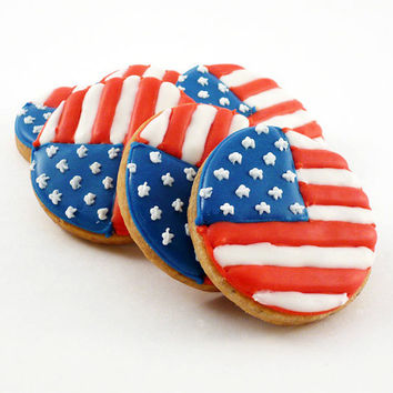 Decorated Cookies - 1 dozen - Patriotic - Fourth of July - Flag Day - Memorial Day