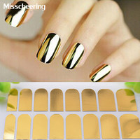 1pcs New Arrival Nail Art Stickers Gold Silver Black Full Cover Nail Foil Patch Wraps,Adhesive DIY Nail Decoration Tools