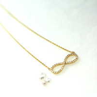 INFINITY necklace/Big size pendant forever necklace