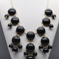 Bubble Statement Necklace - Black