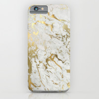Gold marble iPhone & iPod Case by Marta Olga Klara