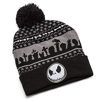 Nightmare Before Christmas Fairisle Pom Beanie