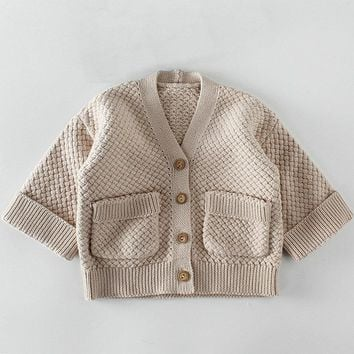Autumn Baby Girls Cardigan Sweaters Spring Newborn Boys Cotton Sweater Coat Children Knitted Toddler Kids Winter Casual Clothes