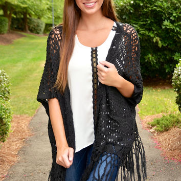 Southern Comfort cardigan, black