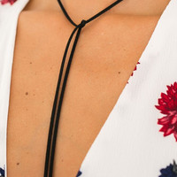 HUDGENS WRAP NECKLACE (BLACK)