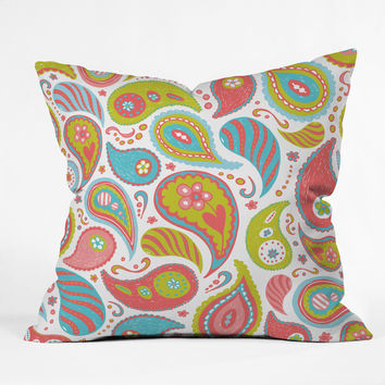 Heather Dutton Power Paisley Throw Pillow