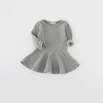 Sun Moon Kids Baby Girls Dress Cotton Newborn Infant Baby Clothes 1 Year Birthday Dress 2017 New Child Tutu Dress