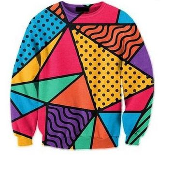 Obnoxious 90's pattern Sweater