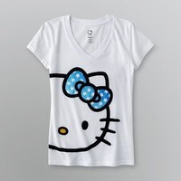 Hello Kitty- -Women's V-Neck Pajama T-Shirt-Clothing-Intimates-Sleepwear & Robes