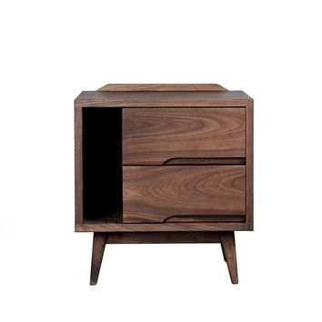 Contemporary Walnut Storage Cabinet