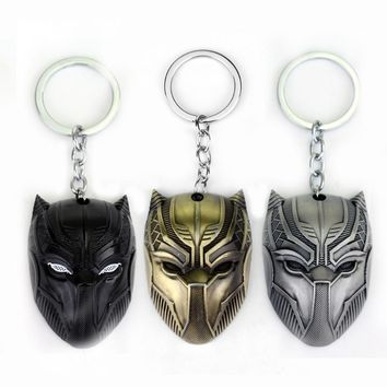 MQCHUN DC Marvel Comics Black Panther Keychain For Men Superhero