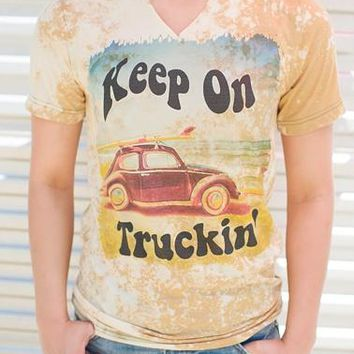 "Annette's ""Keep on Truckin"" Bleached Tee"