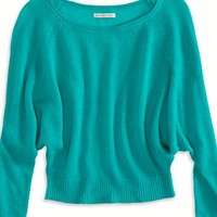 AEO Women's Cropped Raglan Sweater