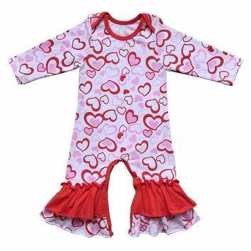 Valentines Day Baby Girls Romper Infant Jumpsuit Newborn Clothing Baby Costume Romper Baby Clothes