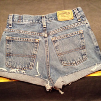High waist hippie dance EDC vintage Levi's vintage denim shorts girls 12