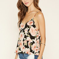 Rose Print Flared Cami | Forever 21 - 2000176884