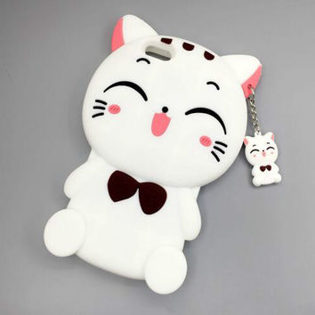 Cute smile cat phone case for iPhone 7 7 plus iphone 6 6s 6 plus 6s plus + Nice gift box 072301