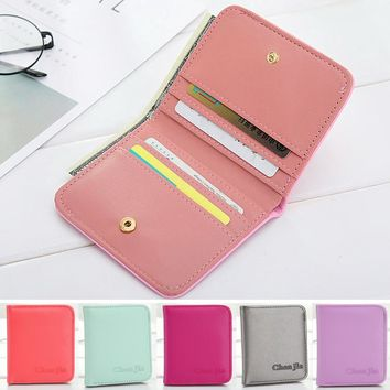 Short Women Wallets Candy Colors \na