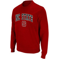 North Carolina State Wolfpack Youth Arch Logo Crew Sweatshirt - Red - http://www.shareasale.com/m-pr.cfm?merchantID=7124&userID=1042934&productID=520934602 / NC State Wolfpack