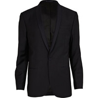 River Island MensNavy blue classic fit suit jacket