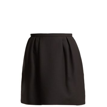 Pleated wool and silk-blend skirt | Valentino | MATCHESFASHION.COM UK