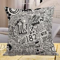 "Blink 182 Band Music Quote on square pillow cover 16"" 18"" 20"""