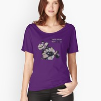 'Floating Floral' Women's Relaxed Fit T-Shirt by errickschild
