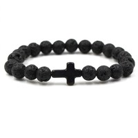 Shiny Awesome Gift Great Deal Stylish New Arrival Cross Rack Hot Sale Unisex Stretch Bracelet [276346929181]