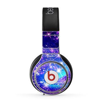 The Glowing Pink & Blue Starry Orbit Skin for the Beats by Dre Pro Headphones