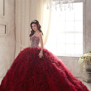Quinceanera Collection - 26838 Bejeweled Strapless Sweetheart Ballgown