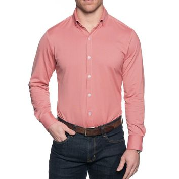 The Spread Collar Gingham Dress Shirt in Hawthorne Red by Mizzen+Main