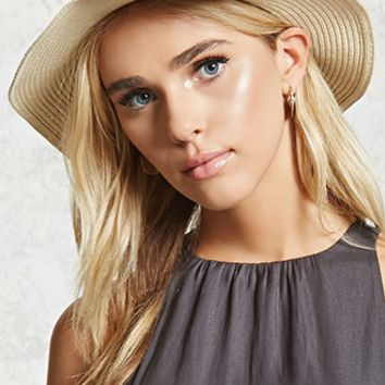 Pleated Straw Fedora