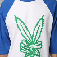 Urban Outfitters - Loser Machine Green Fingers Raglan Tee