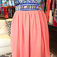 When In Rome Dress - Light Coral