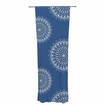 "Julia Grifol ""Blue Harmony"" Blue White Digital Decorative Sheer Curtain"