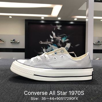 Converse Chuck Taylor All Star 1970s Gray White  Low Canvas Shoes