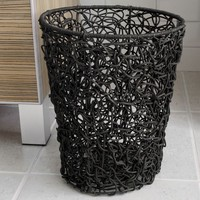 Splash Home Tree Rattan Wastebasket (Brown)