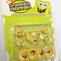 10-Pc Spongebob Porcelain Tea set : mini tea set
