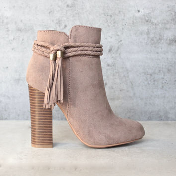 vegan suede 'enchanted' tassel detail bootie - more colors