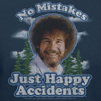 Bob Ross No Mistakes Just Happy Accidents Official T-Shirt