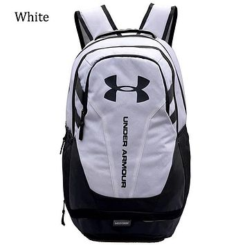 Under Armour 2018 Men's and Women's Sports Outdoor Backpack F0676-1 white