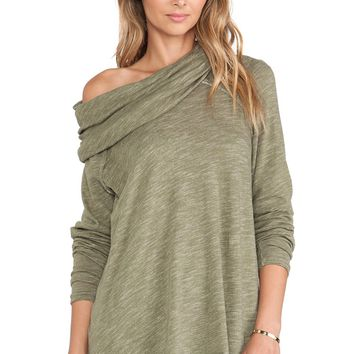 Free People Cocoon Pullover Army