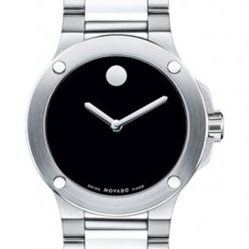 Movado SE Extreme Ladies Stainless Steel Black Horwitt Dial Automatic Movement 34mm Watch 0606292