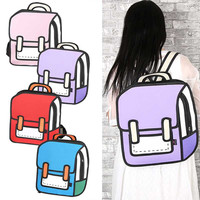 Women's 2d Cartoon Backpack