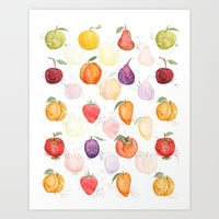 Fruit party Art Print by Color and Color