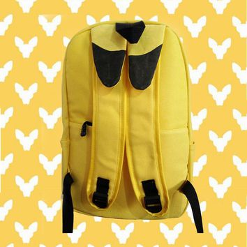 Japanese  Anime  Pokemon  Pikachu  Backpack  Pocket