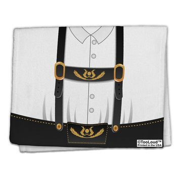 "Lederhosen Costume Black 11""x18"" Dish Fingertip Towel All Over Print by TooLoud"