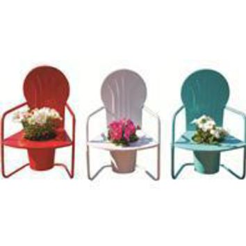 Panacea Products - Retro Metal Chair Planters